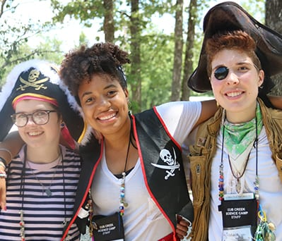 2019 Summer Team - Staff pirate theme day - Cub Creek Science and Animal Camp