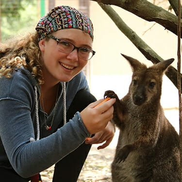 Activity Period Animals At Camp - Camper adopted Bennett Wallaby - Cub Creek Science and Animal Camp