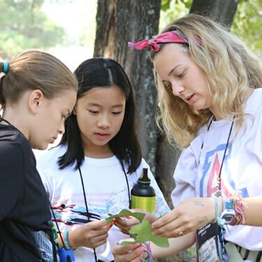 Activity Period Nature At Camp - Campers being taught about Missouri ecosystem - Cub Creek Science and Animal Camp