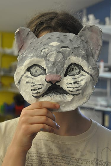 Arts & Crafts At Camp - Camper making animal mask - Cultural Crafts - Cub Creek Science and Animal Camp