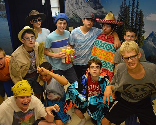 Cabin Life - Boy campers dressed up - Cub Creek Science and Animal Camp