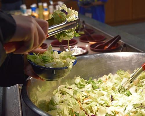 Camp Meals - Salad bar - Cub Creek Science and Animal Camp