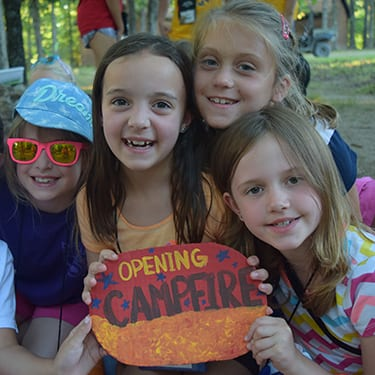 Camper Correspondence - Opening Campfire session photos - Cub Creek Science and Animal Camp