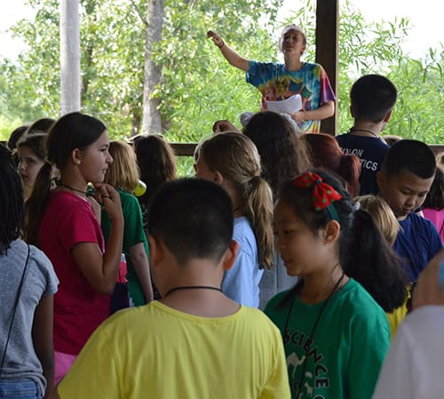 Daily Schedule - Classes being called out - Cub Creek Science and Animal Camp