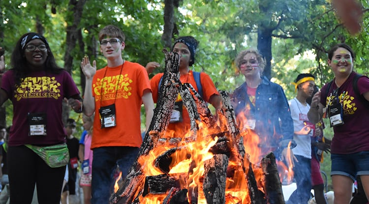 Evening Activities - Opening Campfire - Cub Creek Science and Animal Camp