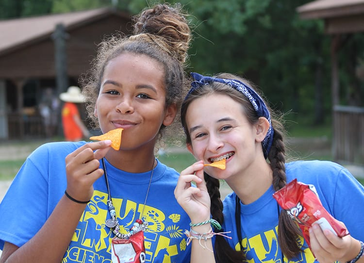 Free Time - Campers enjoying snacks from camp store - Cub Creek Science and Animal Camp