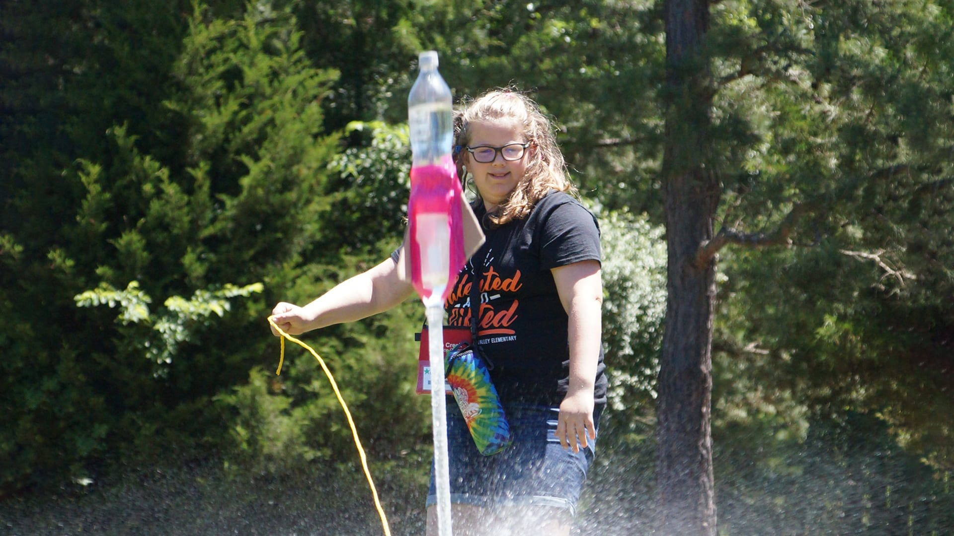 Home Page Image Carousel - Science Camp - Physics Bottle Rockets - Cub Creek Science and Animal Camp