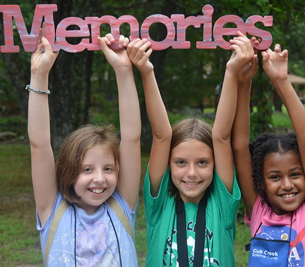 Home Page Resize- Girl campers cherish camp memories - Cub Creek Science and Animal Camp