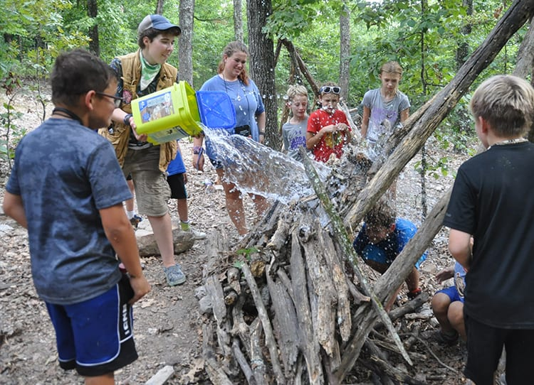 STEM Summer Program - Cub Creek Science Camp - Engineering Shelter Building