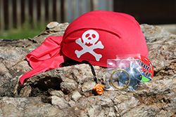Adventure On The High Seas Care Package <br> Includes: Pirate Skull Cap, Eye Patch, <br>Pirate Necklace - $6.00