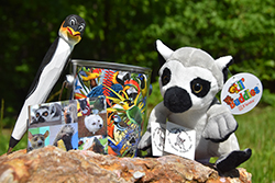 Animal Enthusiast Care Package <br> Includes: Lemur Plush Toy, Animal Pen, <br> Animal Magnet,  Animal Puzzle, <br> Two Removable Animal Tattoos - $16.00