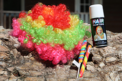 Candyland Care Package <br> Cotton Candy Wig, Colored Hair Spray, <br> Twist Pop Candy - $9.50