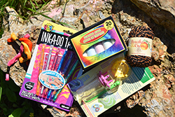 Crazy About Crafts Care Package <br> Includes: Friendship Bracelet String <br> Ink-A-Do Stencils, Wonder Knitter, <br> Yarn - $19.00
