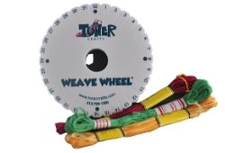 Weave Wheel and String - $5.25