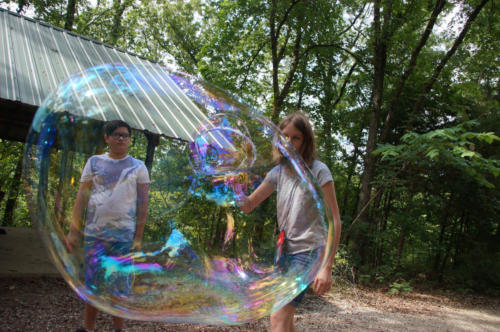 Giant Bubble Chemistry Class - Cub Creek Science Camp
