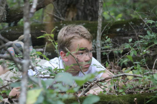 Camo & Concealment survival skills class - Cub Creek Science Camp